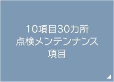 10項目30カ所 点検メンテンナンス項目